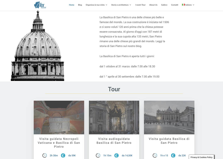 La homepage di voxmundi.eu