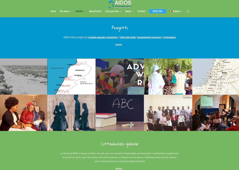 La pagina attività su aidos.it