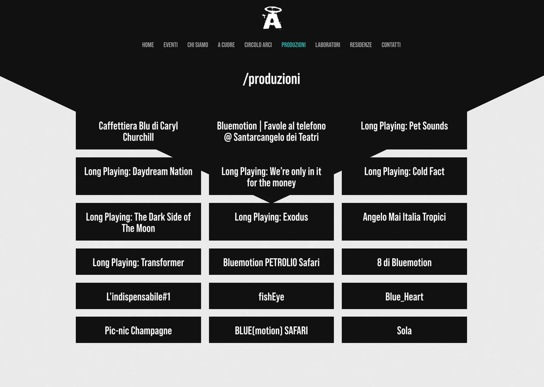 La pagina produzioni di angelomai.org