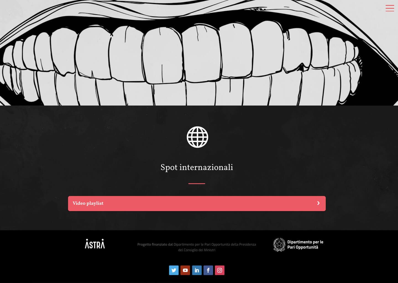 La pagina spot internazionali di nessunospazioallaviolenza.it