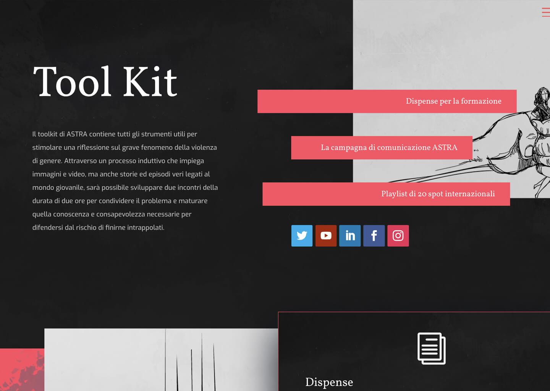 Pagina Toolkit di nessunospazioallaviolenza.it
