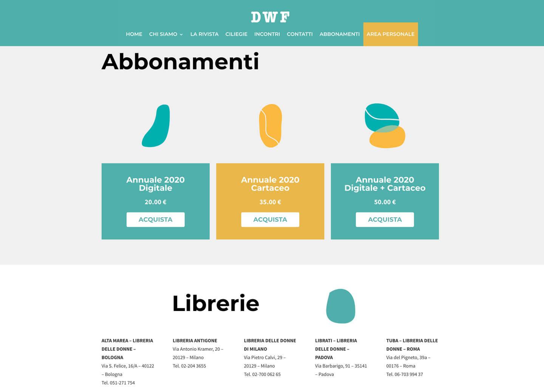 Gli abbonamenti su dwf.it