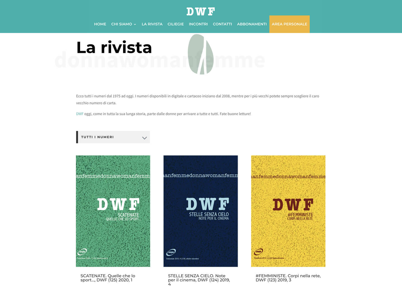 La pagina rivista su dwf.it