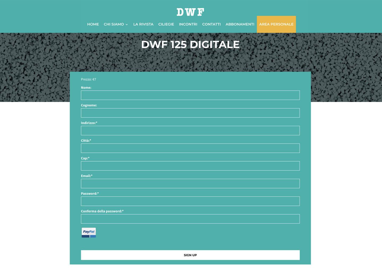 L'area personale di dwf.it