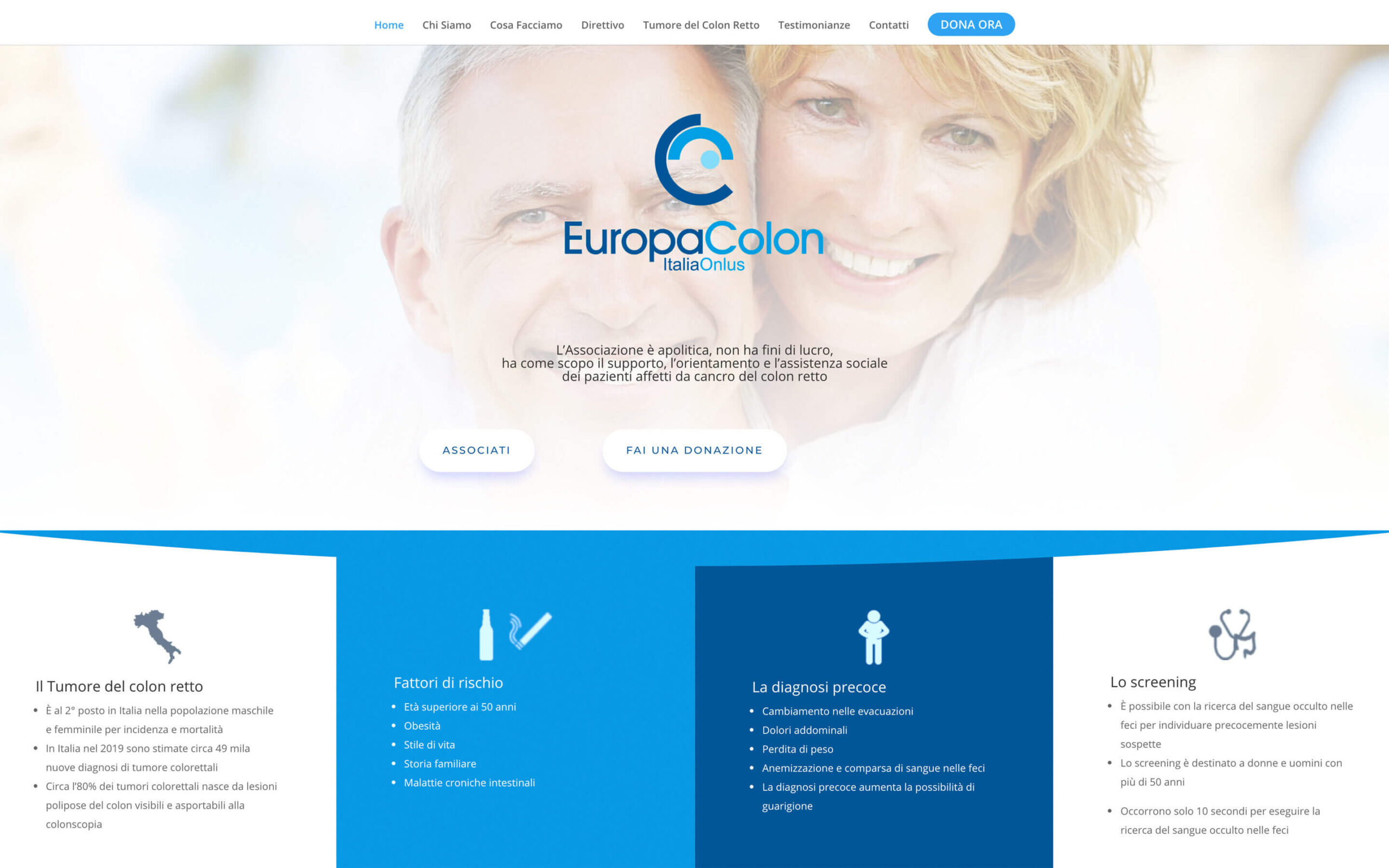 La homepage di europacolon.it