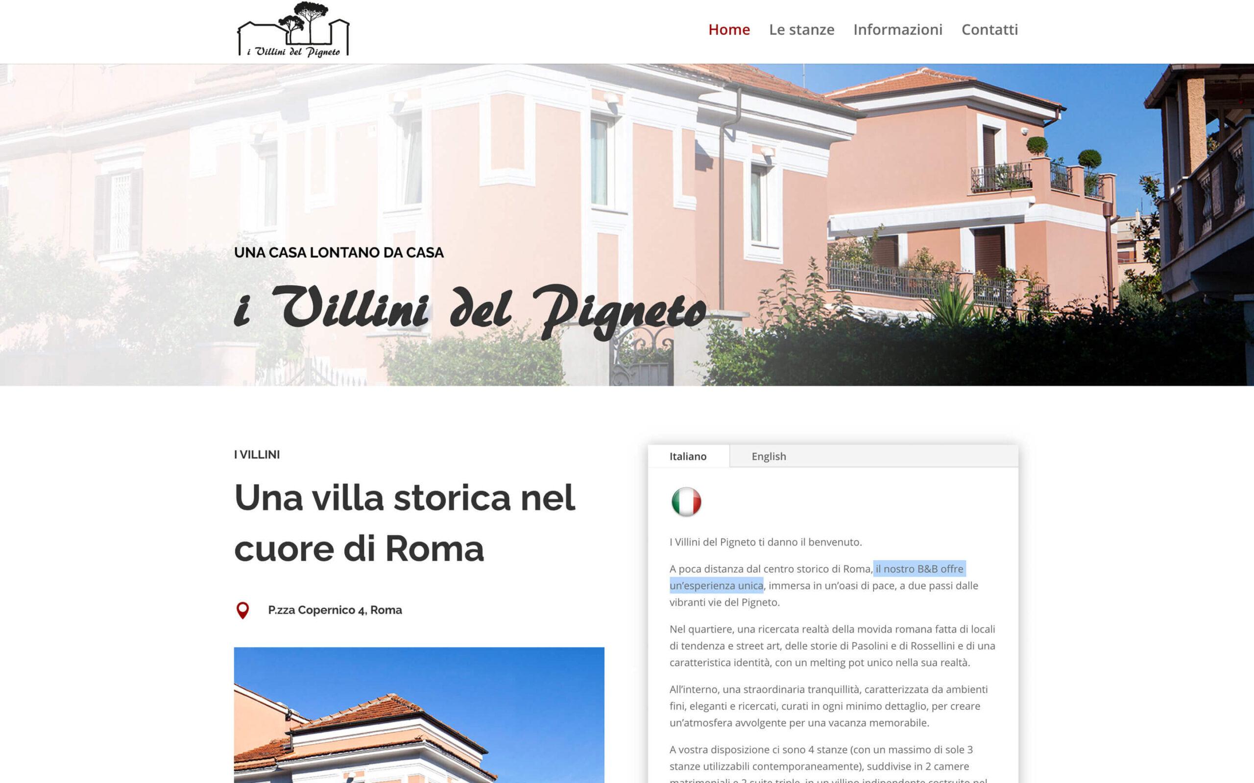 Homepage ivillinidelpigneto.com